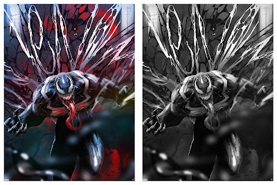 Venom Fine Art Giclee Print by Andy Fairhurst x Grey Matter Art x Marvel