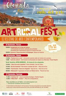 """IV Festival de Arte Contemporáneo """"Art-Rural Fest"""" (25 a 27 de noviembre)"""
