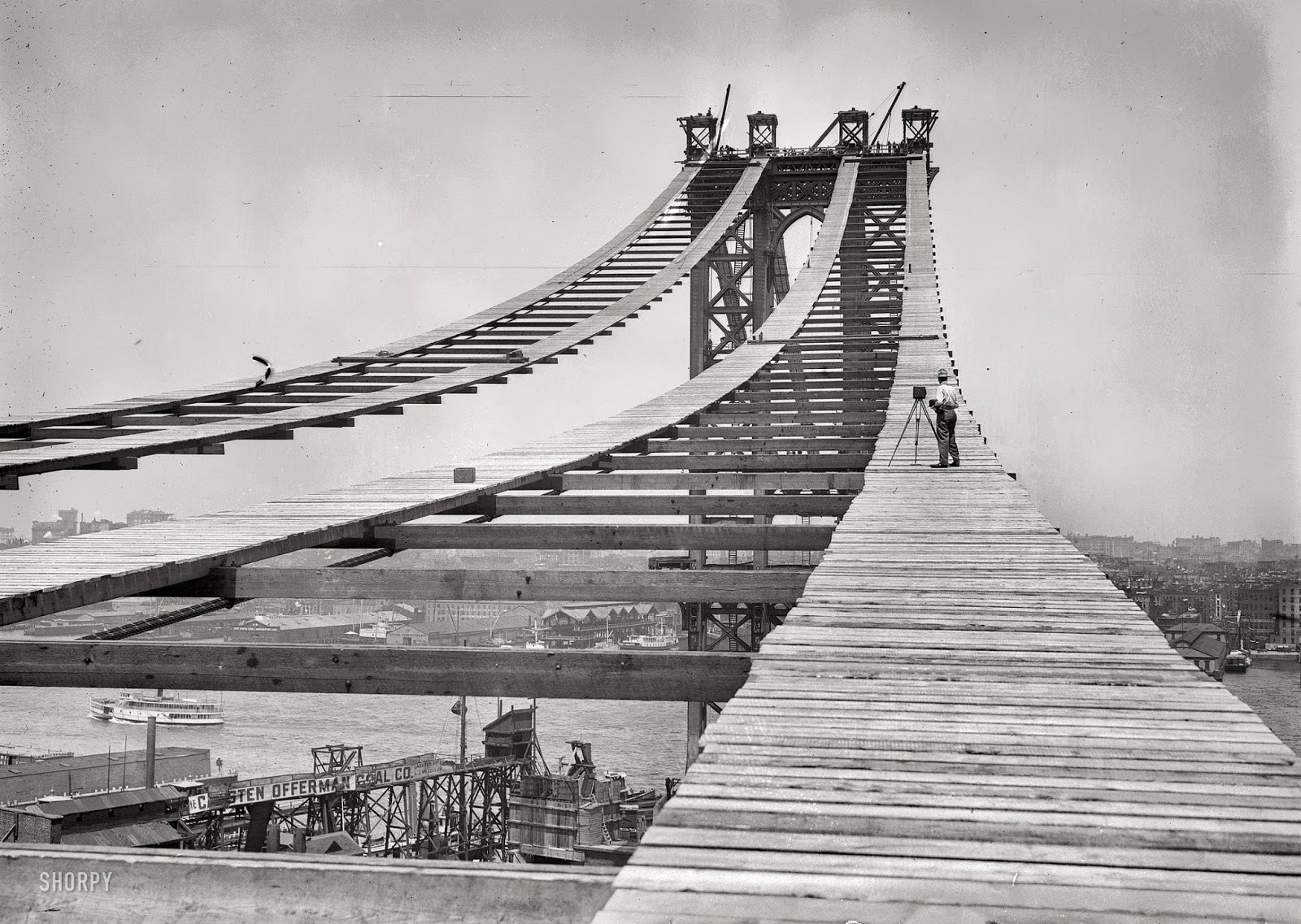 Ultimate Collection Of Rare Historical Photos. A Big Piece Of History (200 Pictures) - Construction of the Manhattan Bridge