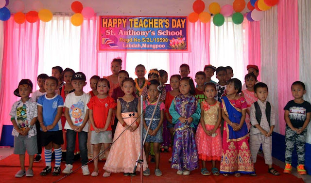 Teachers Day celebration St Anthony School Mungpoo