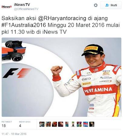 TV Yang menyiarkan F1 2016