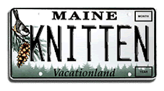 Possible Maine vanity license plate, Dayana Knits blog