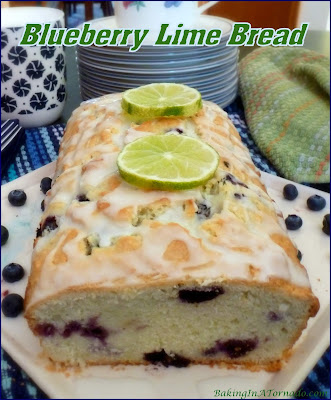 Light and refreshing, Blueberry Lime Bread features a subtle citrus flavor studded with the burst of fresh blueberries. | Recipe developed by www.BakingInATornado.com | #recipe