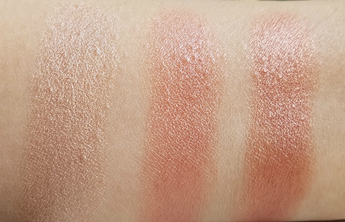 Swatches / Review: nude by nature - Touch of Glow Highlight Sticks - Champagne, Rose, Bronze Madame Keke 4
