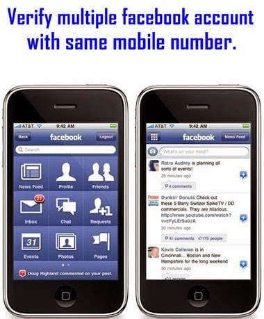 How to verify multiple facebook accounts by same mobile number