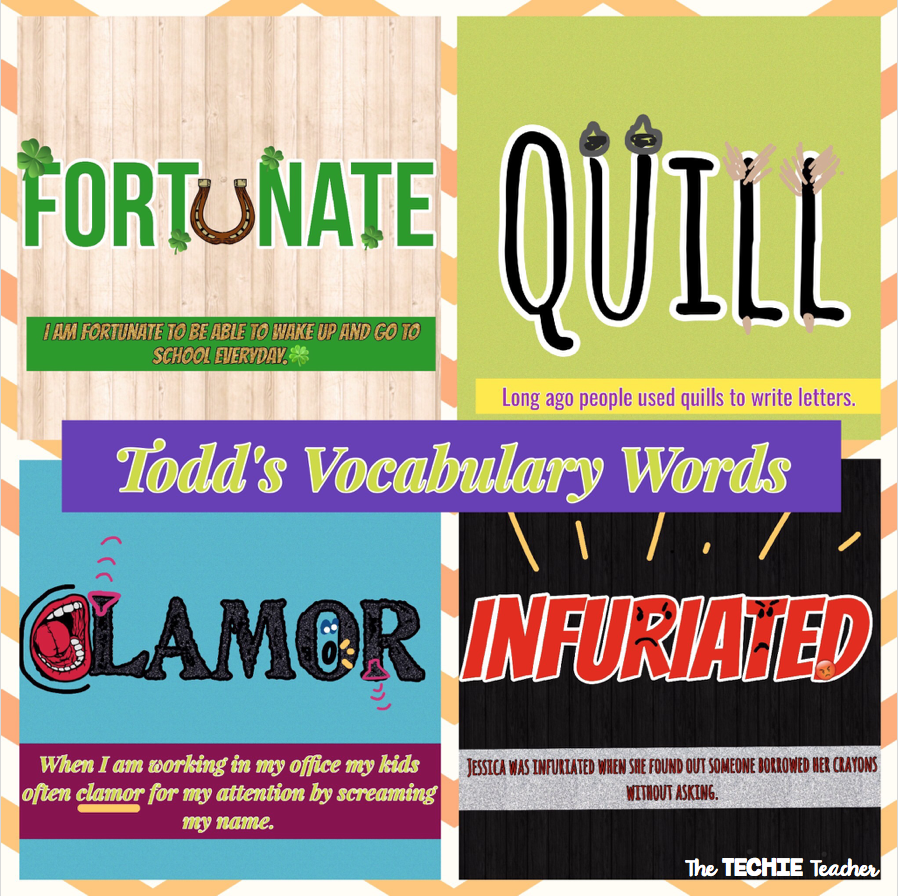 How to use the PicCollage app to make vocabulary words come alive