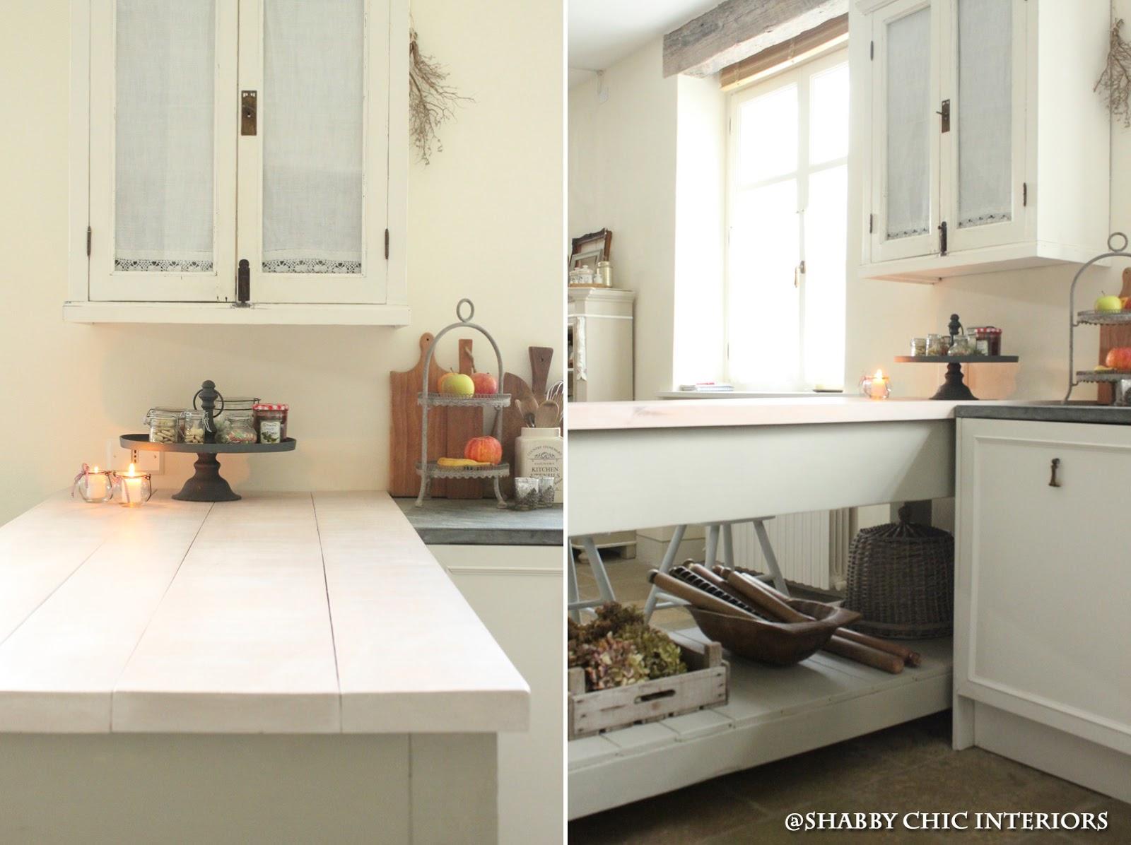 Il bancone della mia cucina shabby chic interiors for Bancone cucina fai da te