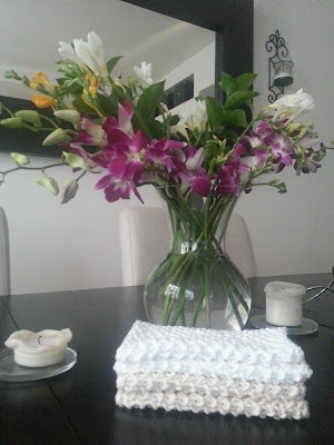 Handmade knit cotton napkins  |  Rituals on *sparklingly  |  http://sparkingly.blogspot.com