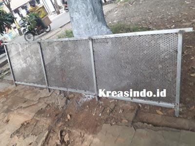 Railing Balkon Plat Perforated Pesanan Bu Alisha di Beji Depok