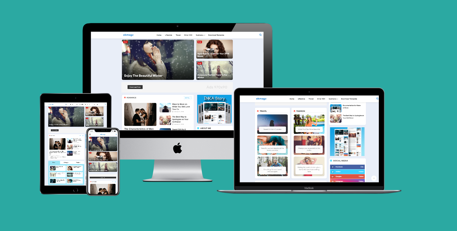 INKA Story Premium Blogger Template