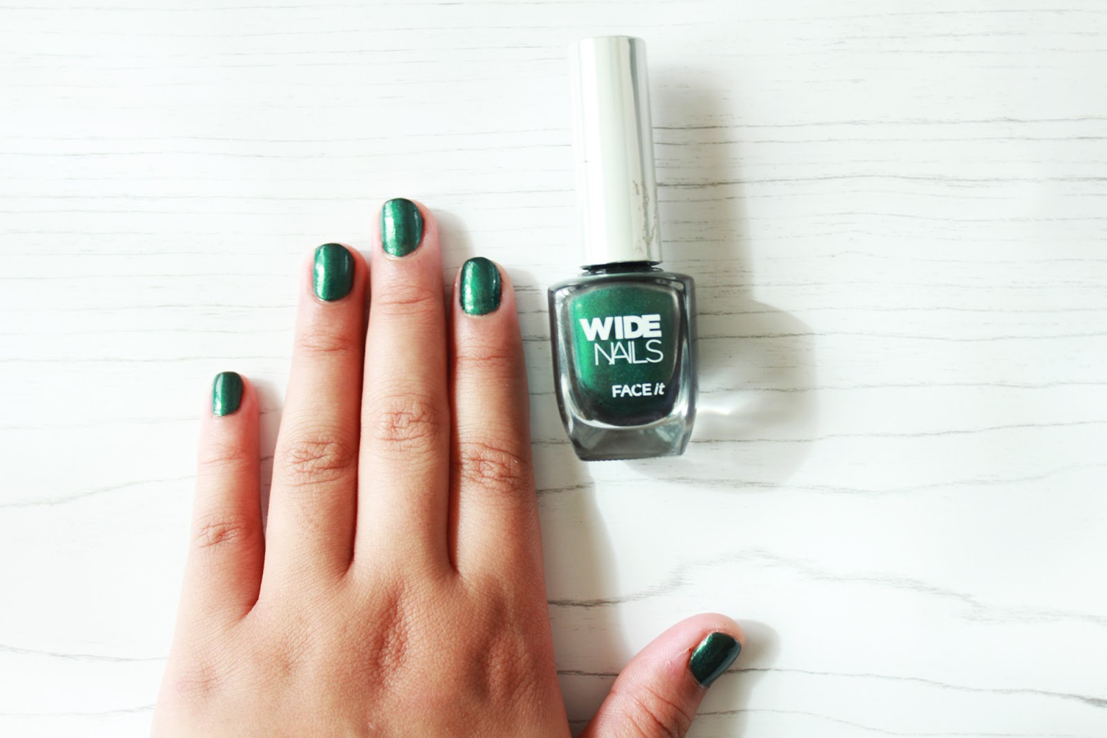 Nail of the Week: The Face Shop Wide Nails in GR503 - Shash Stash