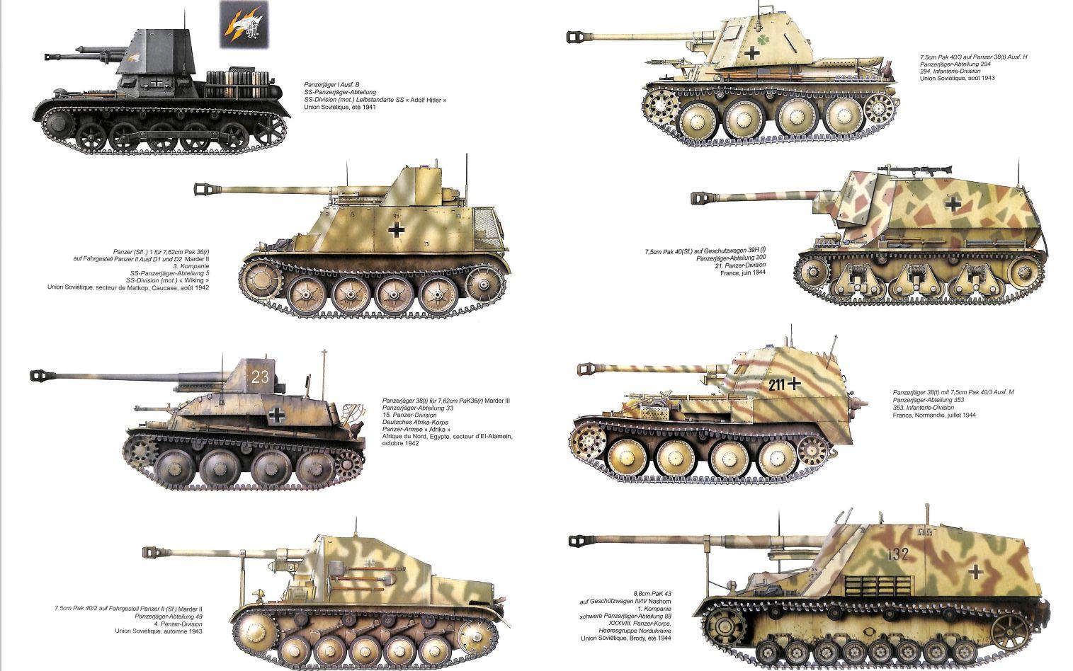 WWII German Marder II tank destroyer World War 2 WW2 Germany half track II