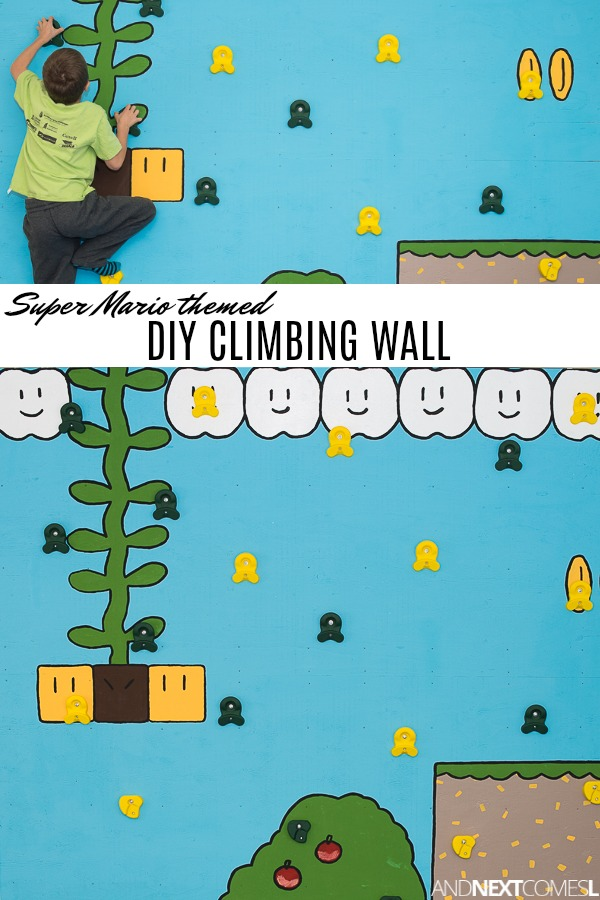 DIY Super Mario themed climbing wall for kids - how to build a rock climbing wall for kids tutorial