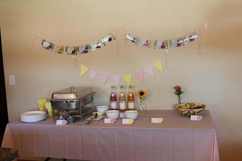 Rhubarb Linen Nina39s Pink Yellow First Birthday Party