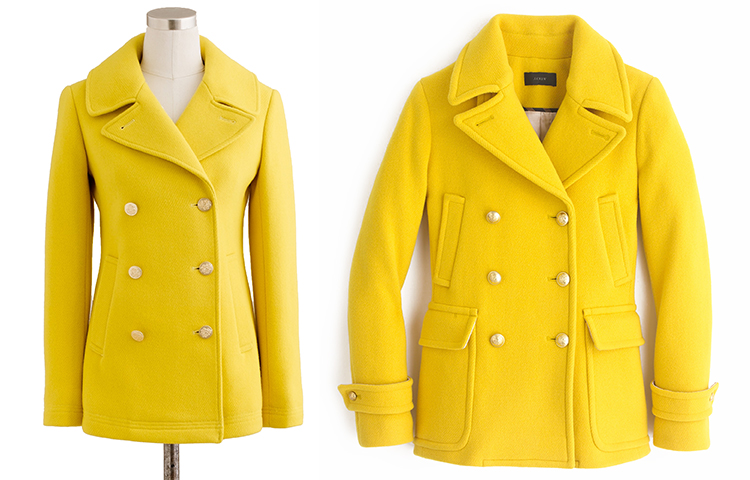 Yellow Peacoat (  2015 J. Crew Stadium-cloth Majesty Peacoat ...