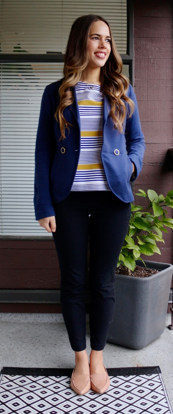Jules in Flats - Blazer with Stripes for Work