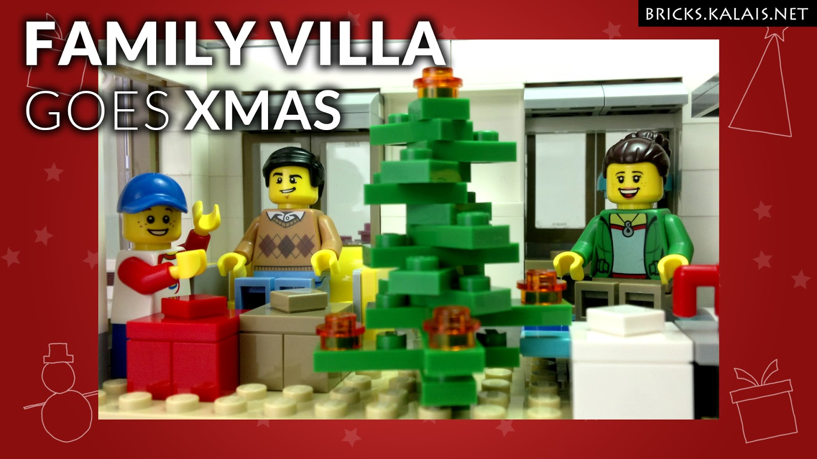 [BRICKFILM] How to change 31069 Family Villa into XMAS theme