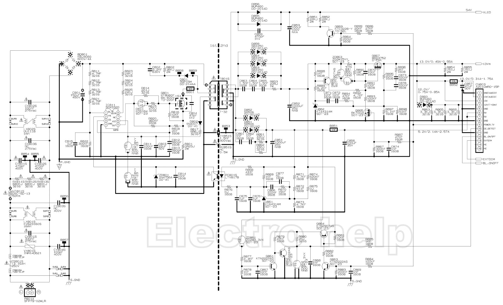 Electro Help  Toshiba 32l2300  U2013 Toshiba 39l2300  U2013 Led Lcd