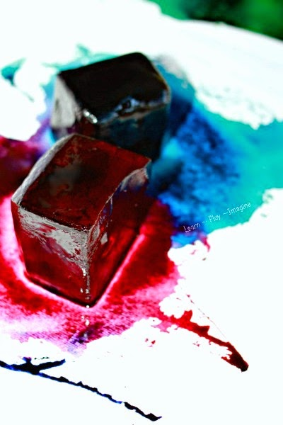 Color mixing with watercolor ice - art and science to help you keep cool this summer!