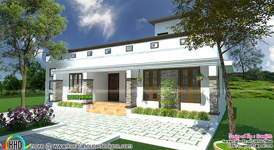 One floor flat roof home 940 sq-ft