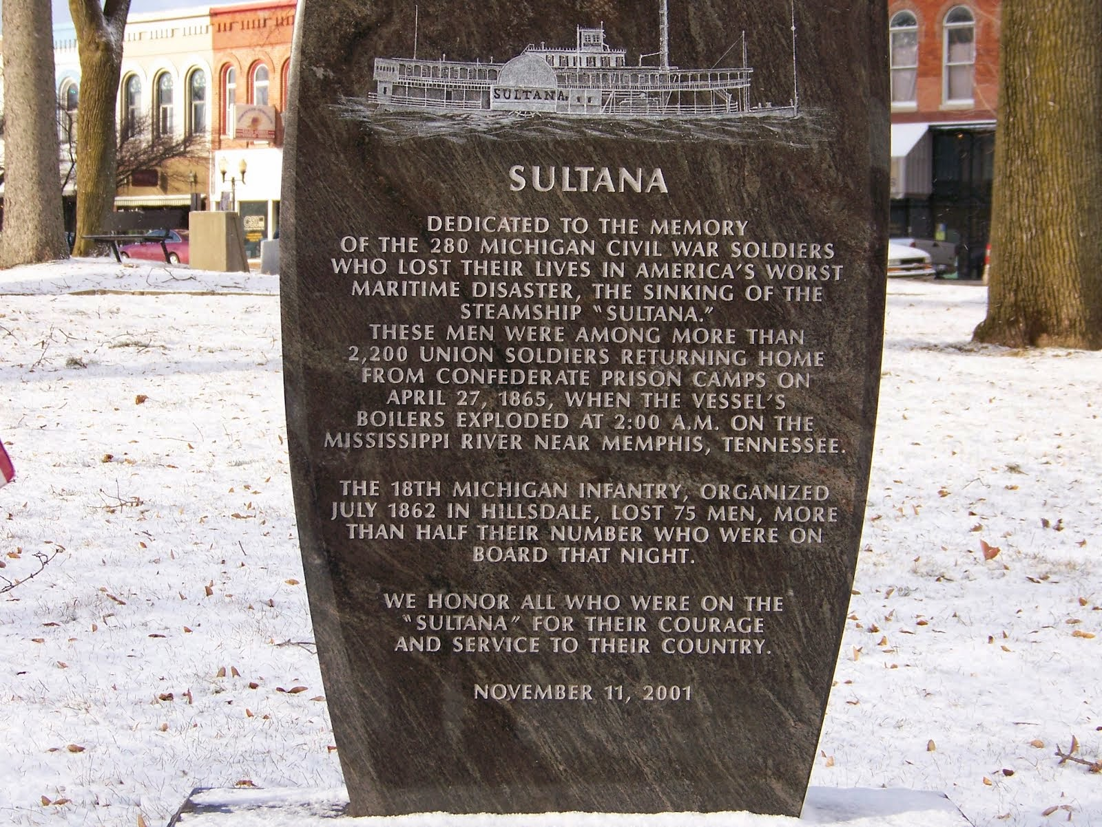 The Civil War Picket: Sultana disaster: New museum, events