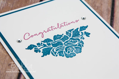 Make in a Moment - Congratulations Card Made Using Floral Phrases by Stampin' Up! UK