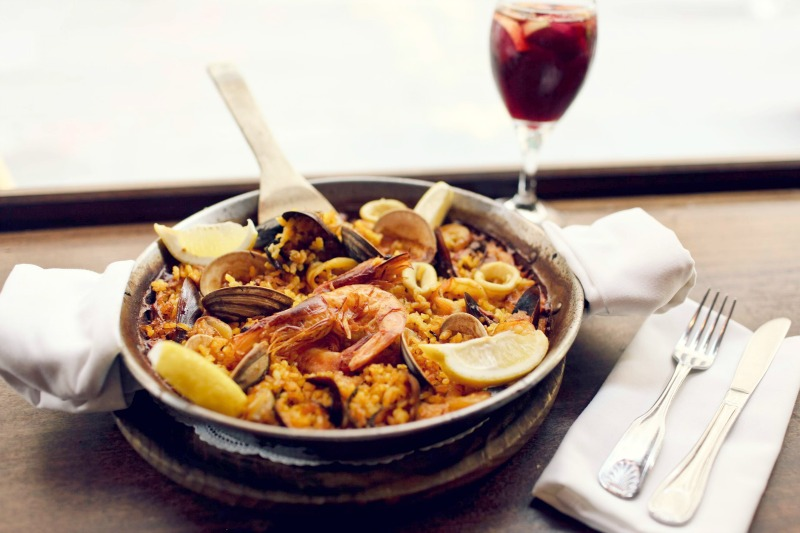 Risotto with mussels, shrimps and kalamari