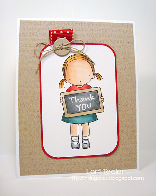 Thank You card-designed by Lori Tecler/Inking Aloud-stamps from My Favorite Things