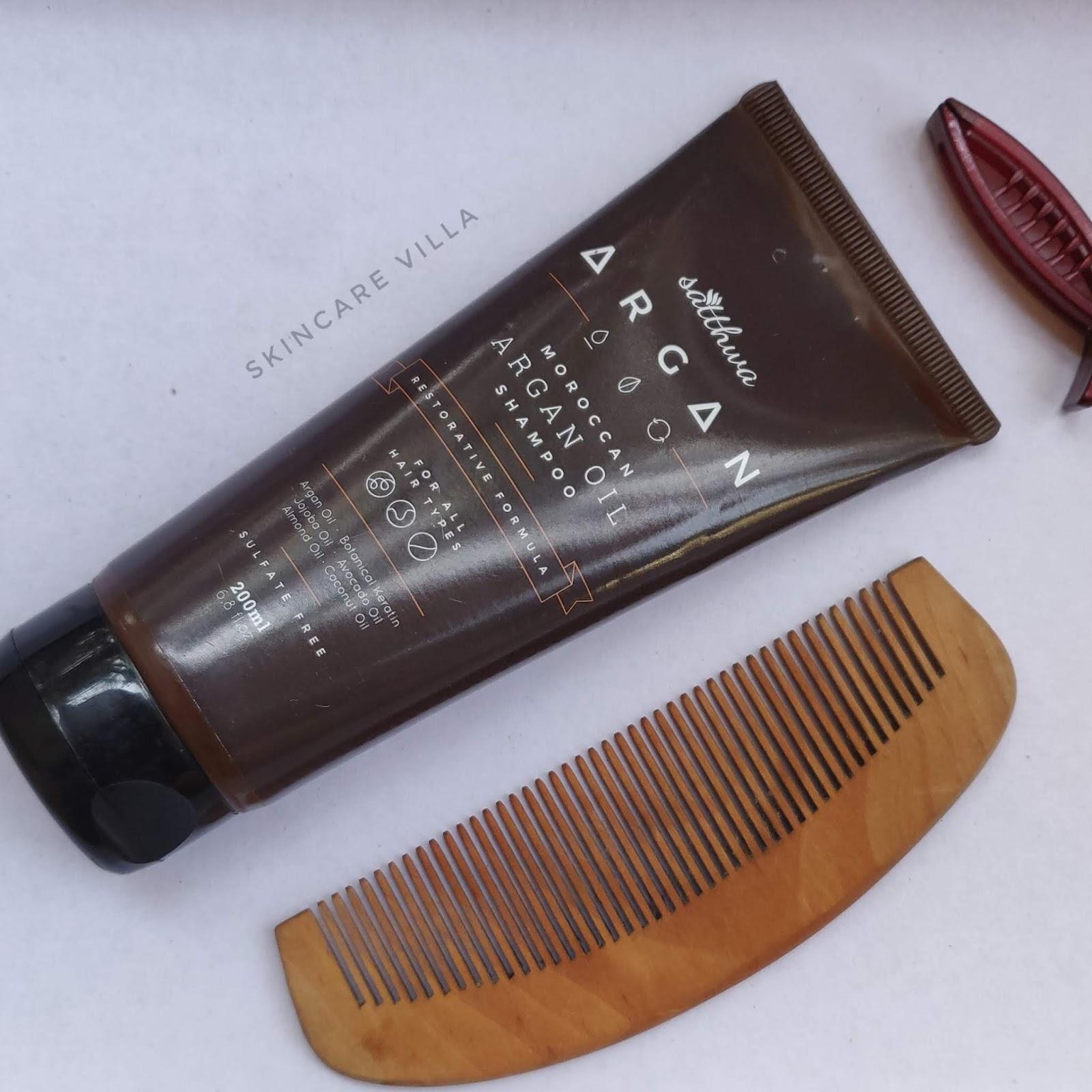 Satthwa Moroccan Argan Oil Shampoo Review
