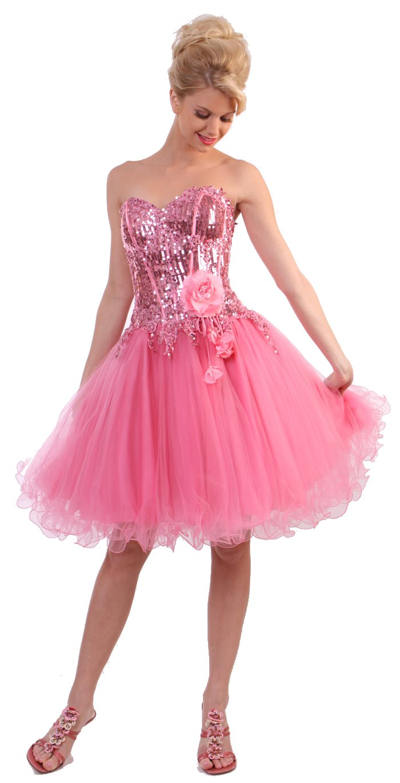 Medium Haircuts For Women Pink Prom Dresses Are Elegant