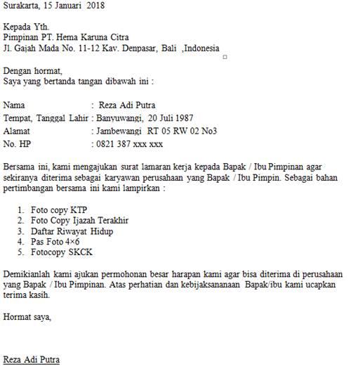 Contoh Surat Negosiasi: Contoh Surat Lamaran Kerja & Rahasia Mudah
