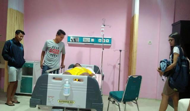 Kondisi M. Pujiantoro di rumah sakit sebelum dioperasi