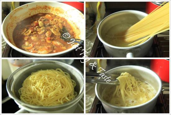 Resep 20 Menit Pasta dengan Sarden dan Jamur