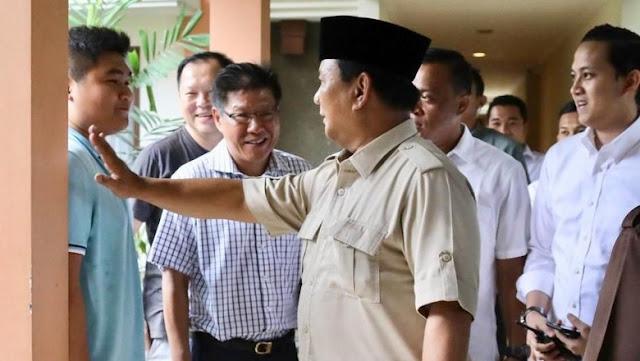 Prabowo Dapat Dukungan dari Seorang Warga Keturunan Tionghoa