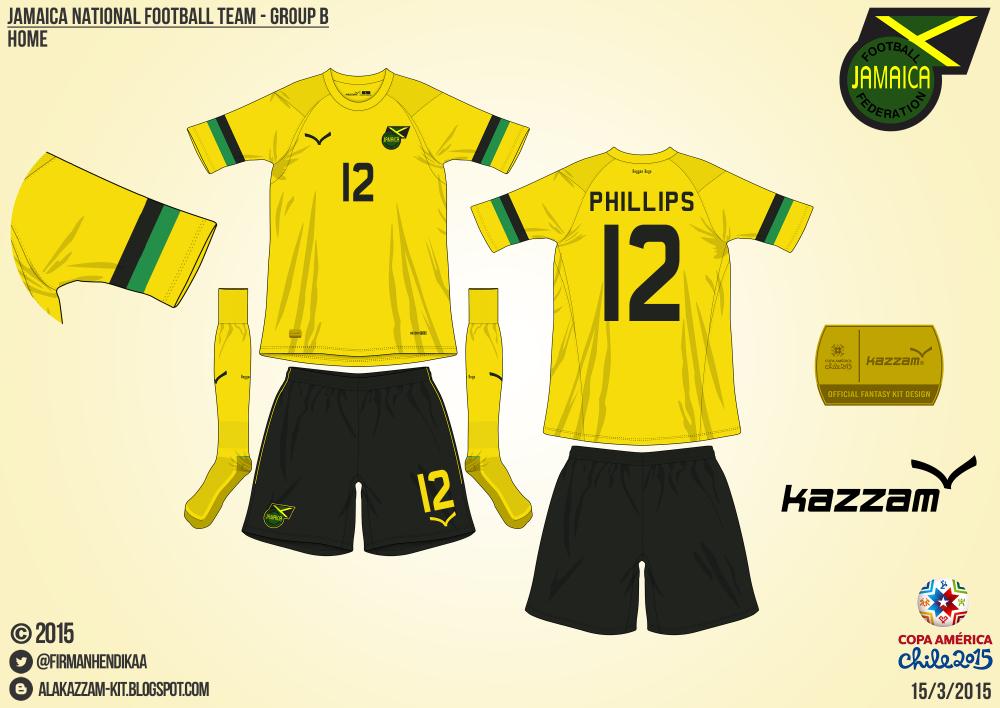the latest 8d462 6edfc Jamaica National Football Team Fantasy Home & Away Kits ...
