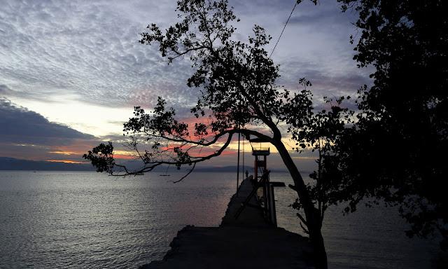 Sunset at Pacman Beach Resort Complex
