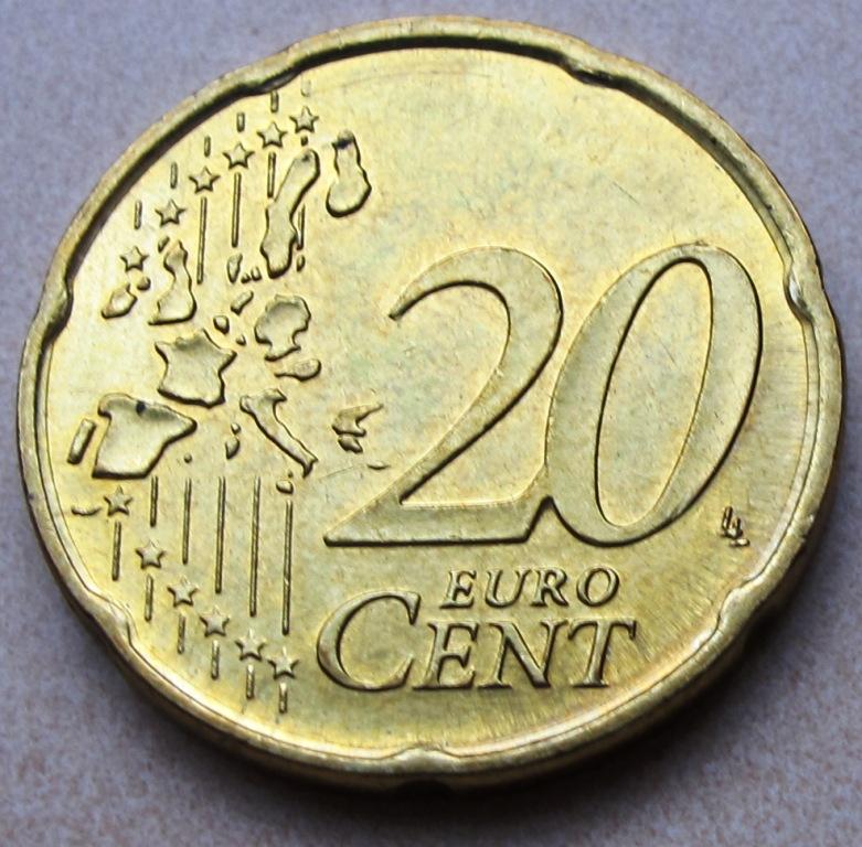 2003 F German 20 Euro Cent