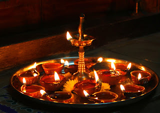 Diya or Deepam - Hindu Temple Lamp