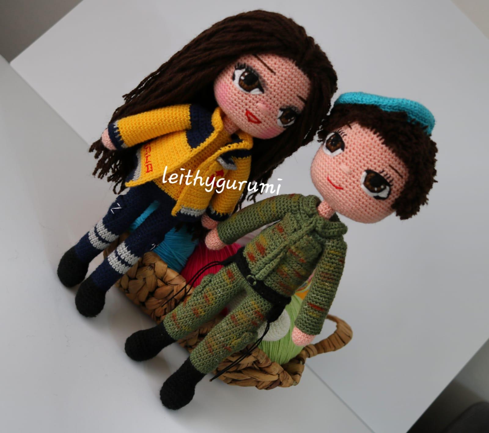 crochet toys amigurumi doll unicorn girl model number XC041028 ... | 1417x1600