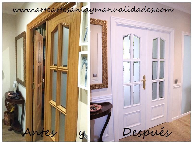 Arte artesania y manualidades lacado de puertas handmade for Pintar puertas en blanco paso a paso