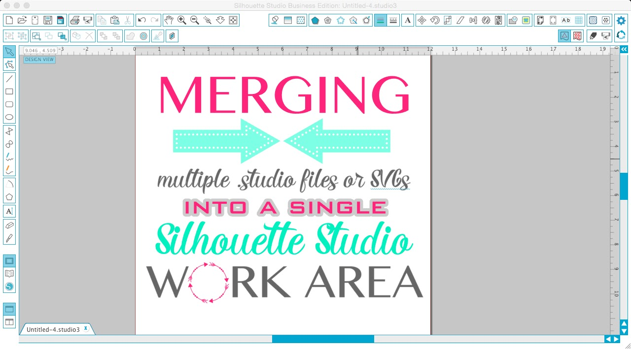 Using merge to open multiple udio files or layered svgs in a silhouette tutorial silhouette studio merging multiple studio files merging svgs single work fandeluxe Gallery