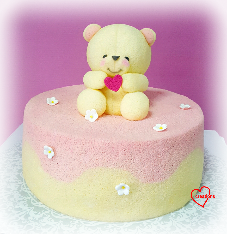 Loving Creations for You Forever Friends Bear Yuzu Chiffon Cake