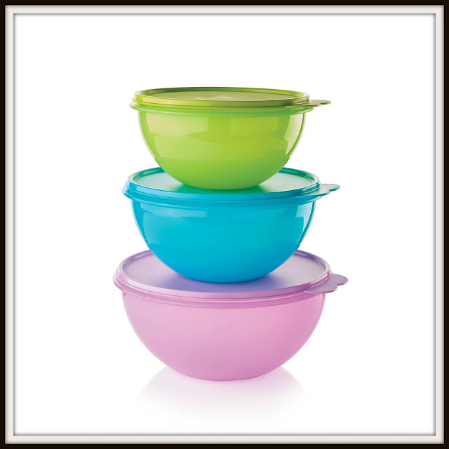 3 Piece Tupperware Wonderlier Bowl Set