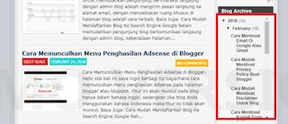 Cara Memasang Scroll Pada Arsip Blog