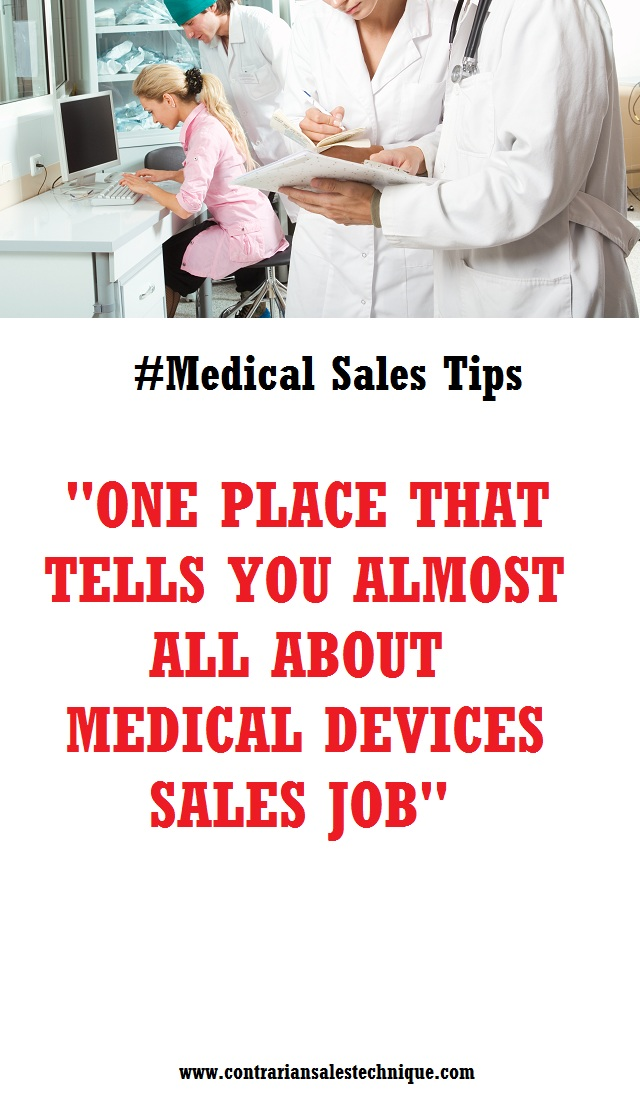 Medical device sales job one stop