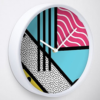 80s Memphis Art Wall Clock
