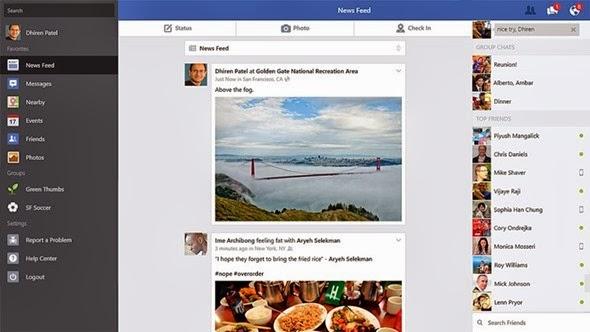 Facebook App for Windows 8.1