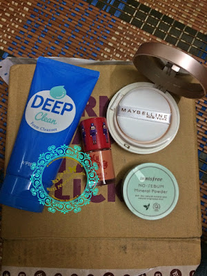 innisfree product, no sebum, mineral powder, deep clean foam cleanser, maybelline bb cushion, etude house, cheek beam, hermo malaysia, shopping online, simple make up, skin care,