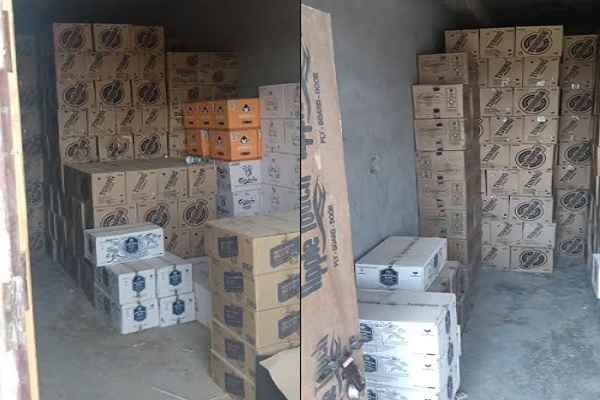 faridabad-police-thana-sadar-ballabhgarh-caught-illegal-wine-and-beer