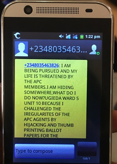 #EdoDecides: See This Shocking Text Message From A Voter